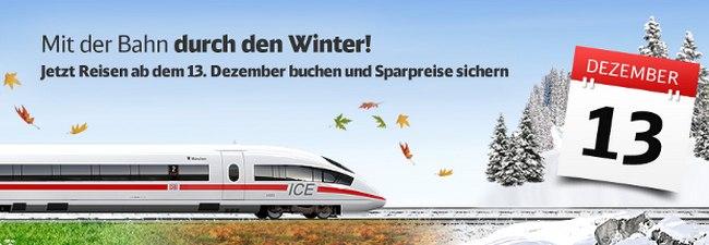 Bahn Winterfahrplan