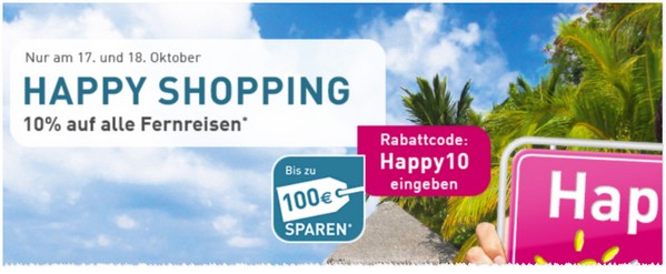 LTUR Happy Shopping Gutschein im Oktober 2015