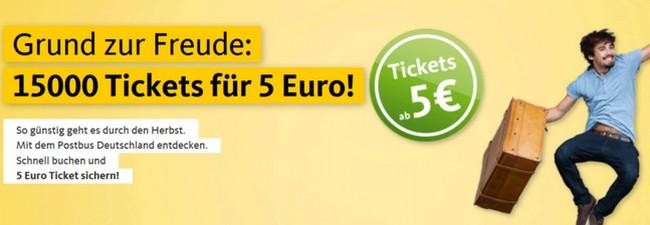Postbus 5 Euro Tickets