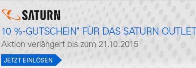 Saturn Outlet-Gutschein: 10% eBay-/PayPal-Rabatt bis 21.10.2015 verlängert