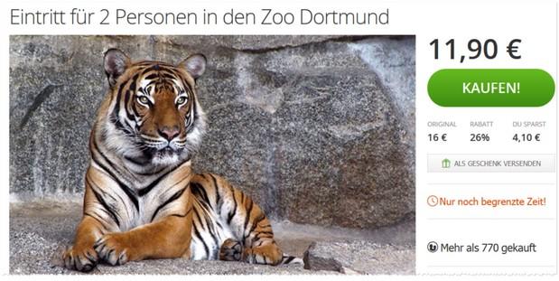 zoo dortmund gutschein eintritt f r 2 nur 11 90. Black Bedroom Furniture Sets. Home Design Ideas