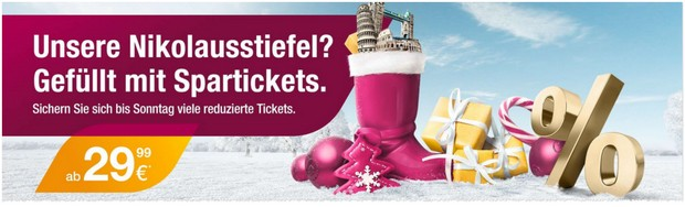günstige Germanwings Spartickets bis Nikolaus