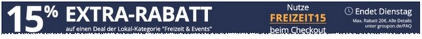 Groupon Rabatt Code Freizeit & Events