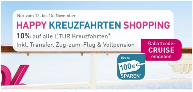 LTUR Happy Kreufahrten Shopping Gutschein