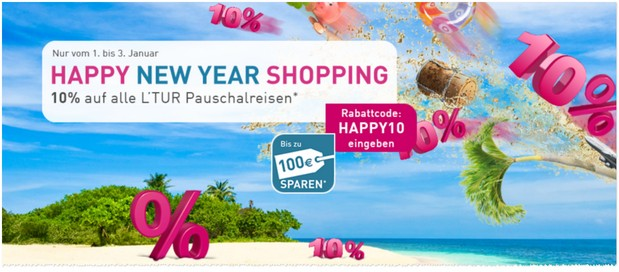 LTUR Happy New Year Shopping Gutschein