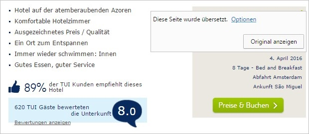 TUI.nl übersetzen lassen