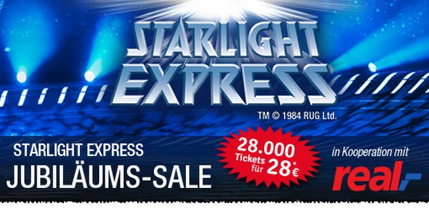 starlight express tickets g nstiger karten ab 49. Black Bedroom Furniture Sets. Home Design Ideas
